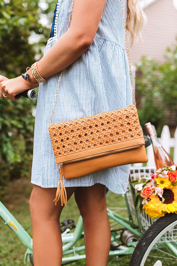 Total Toss Up Clutch In Camel