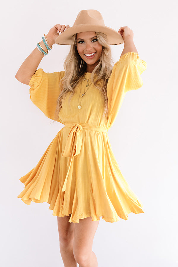Valley Girl Ruffle Dress in Marigold