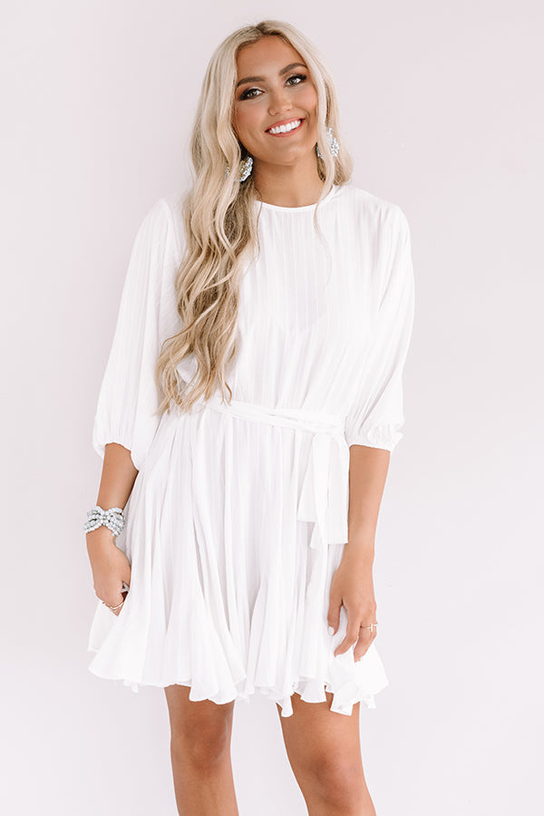 Valley Girl Ruffle Dress in White