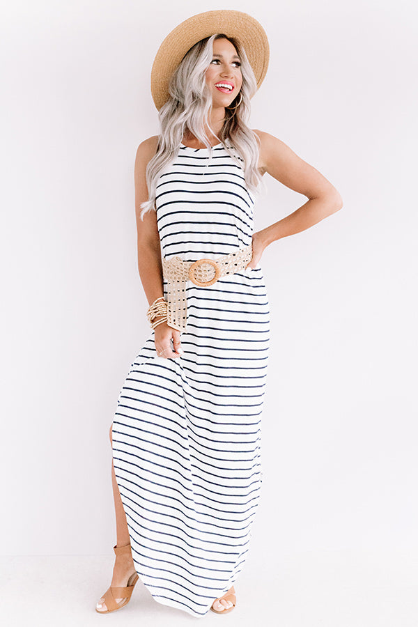 St. Tropez Promise Stripe Maxi In White