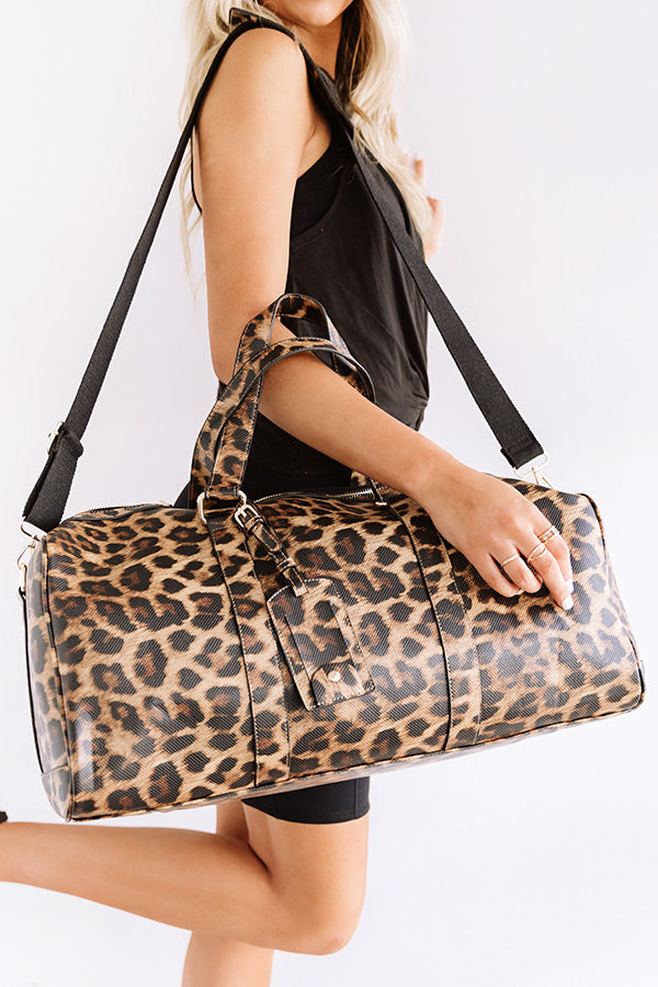 Sweetest Travels Leopard Weekend Tote
