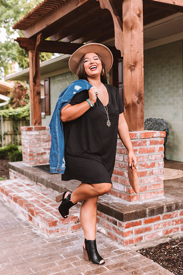 Summertime Vibes T-Shirt Dress In Black