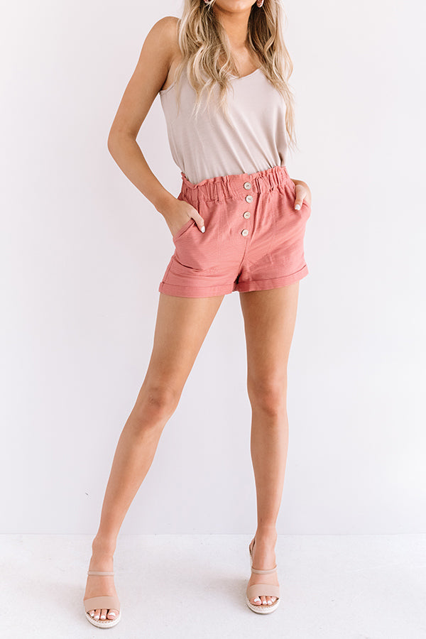 The Scout High Waist Shorts in Blush