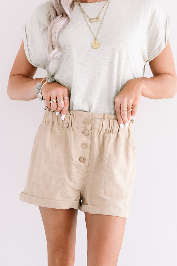 The Scout High Waist Shorts in Khaki