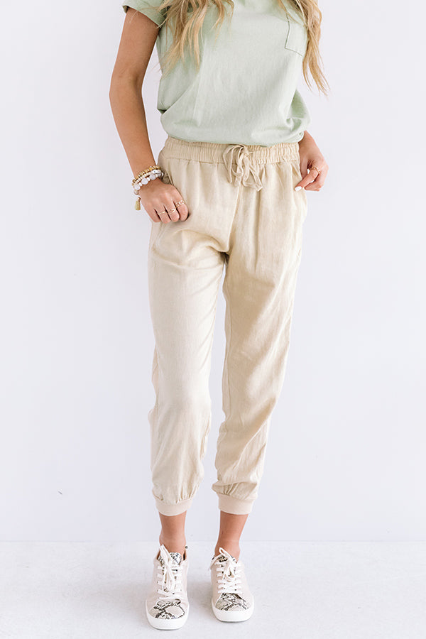 The Puesto High Waist Joggers In Khaki
