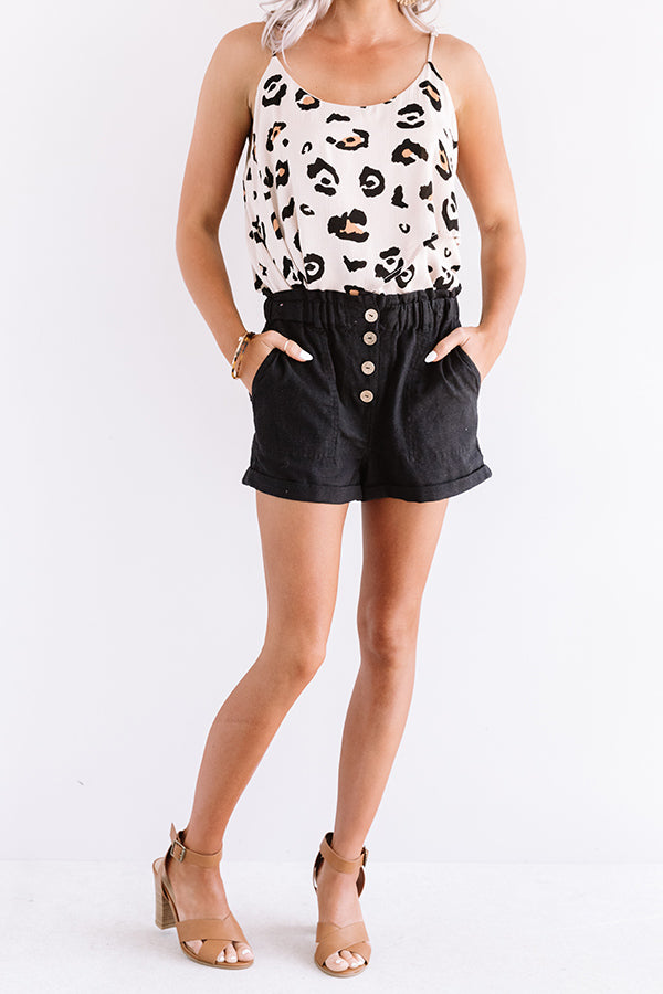 The Scout High Waist Shorts in Black