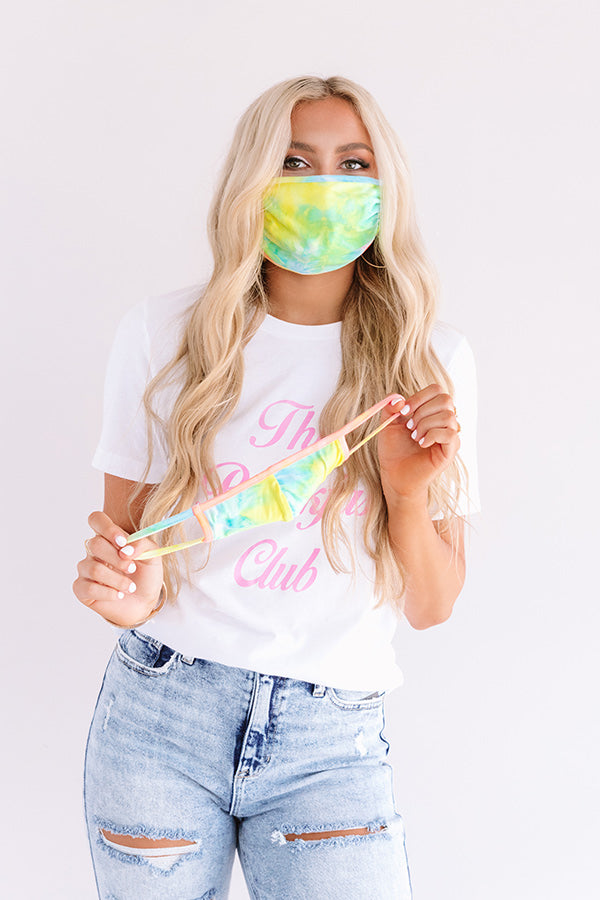 Solo Trip Cloth Face Mask in Blue Tie Dye