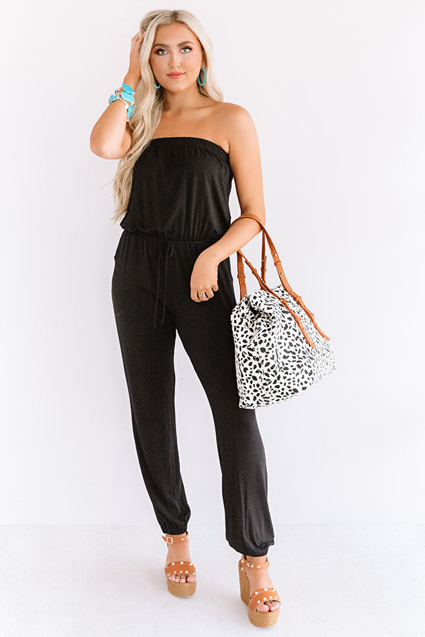 Style Remix Strapless Jumpsuit in Black