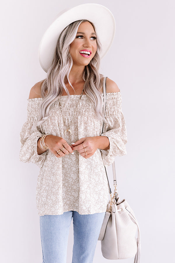 Flirty Forever Floral Shift Top
