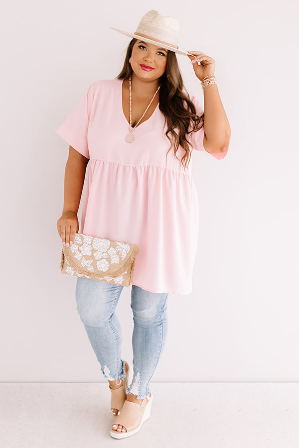 Downtown Brooklyn Babydoll Top In Pink