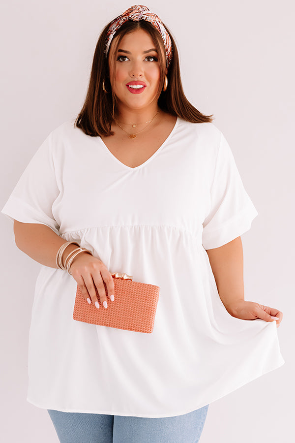 Downtown Brooklyn Babydoll Top In Cream