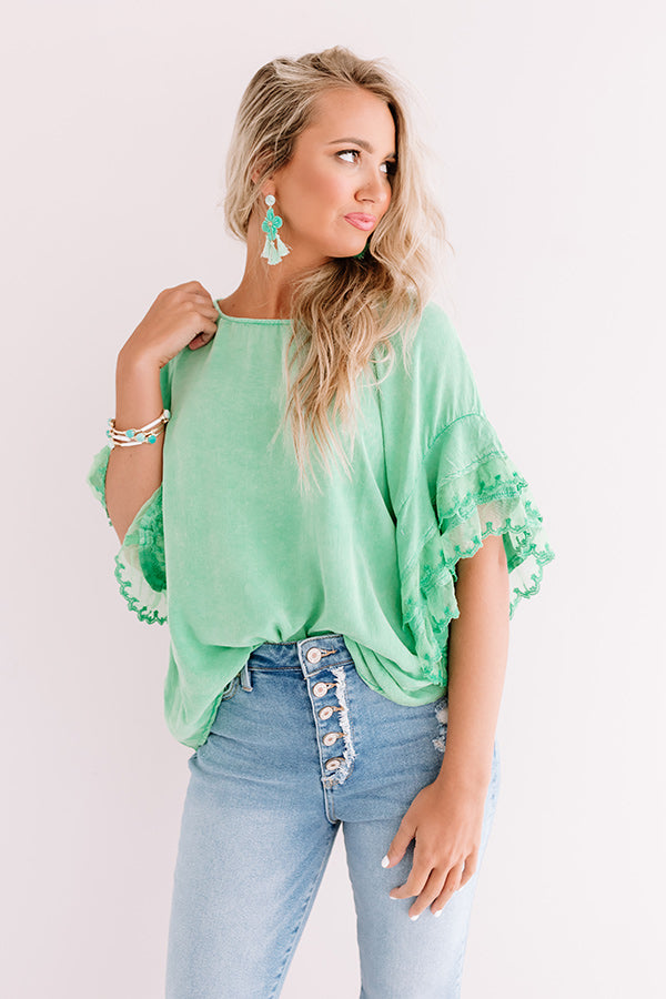 Timeless In Tribeca Shift Top In Lime