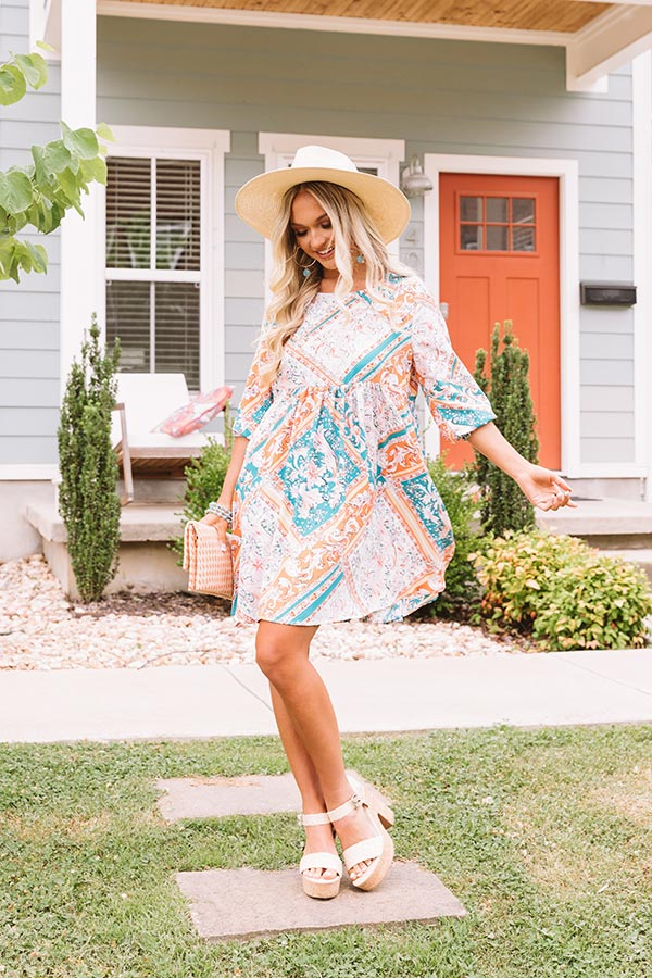 Sunshine Sangria Babydoll Dress