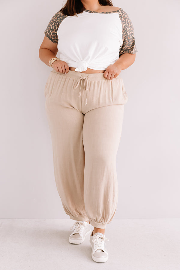 The Cosmo High Waist Joggers In Khaki