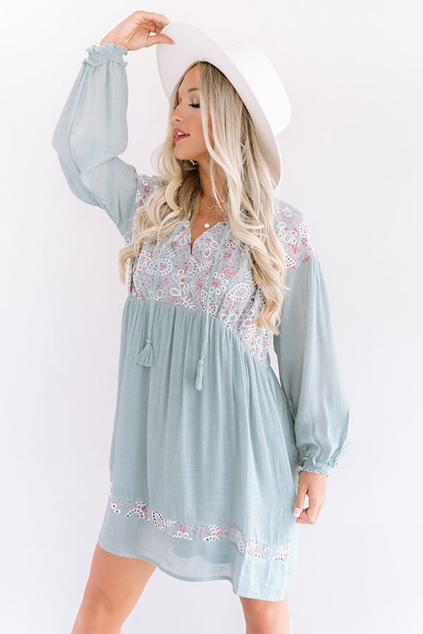 Gondola Gorgeous Babydoll Tunic Dress In Limpet Shell