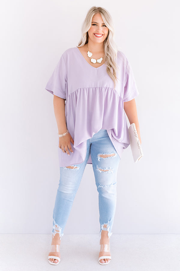 Downtown Brooklyn Babydoll Top In Lavender