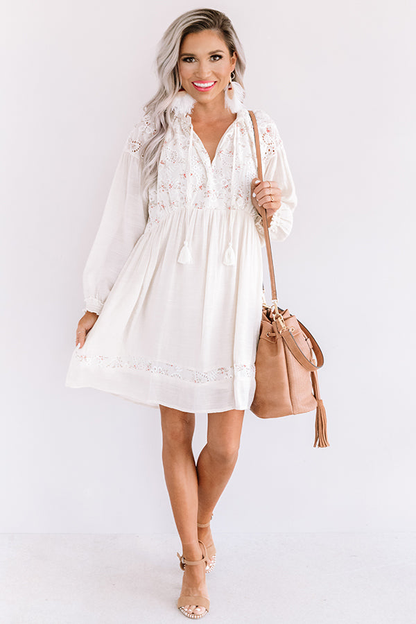Gondola Gorgeous Babydoll Tunic Dress In Ivory
