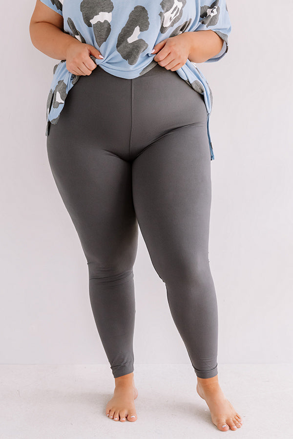 Cabo And Chill Midrise Legging in Charcoal