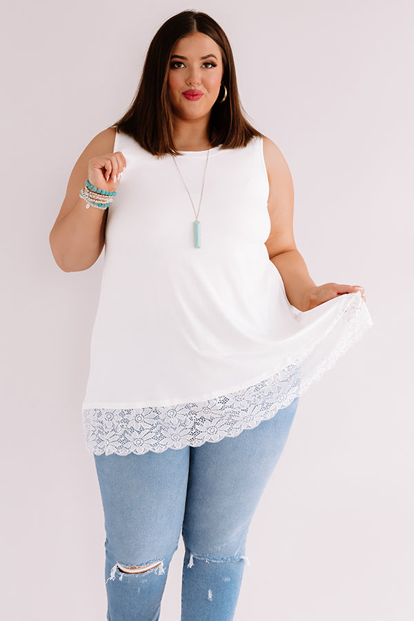 Chardonnay Nights Tunic In White