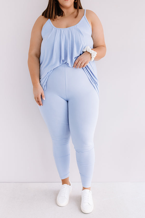 Cabo And Chill Midrise Legging in Sky Blue