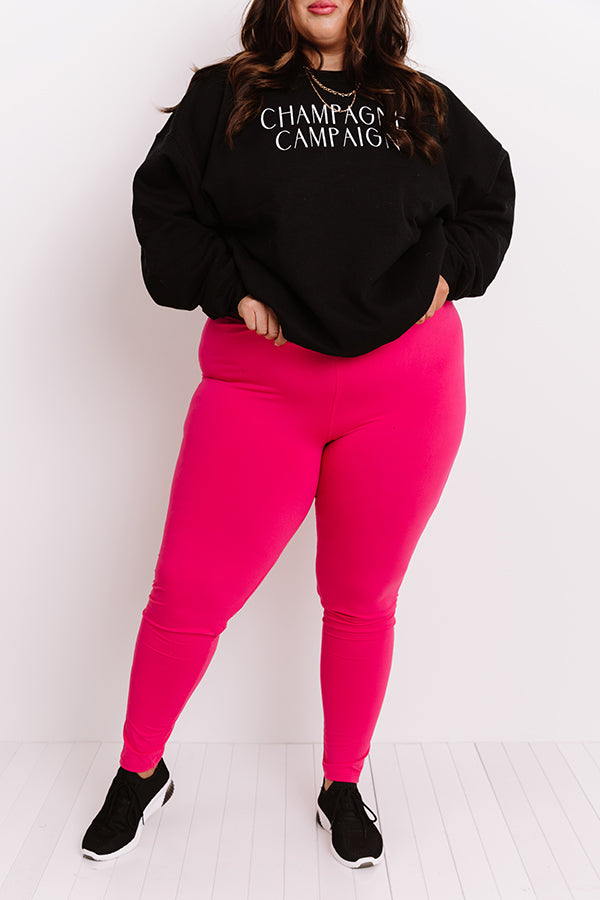 Let's Chill Ultra Soft Midrise Legging in Hot Pink