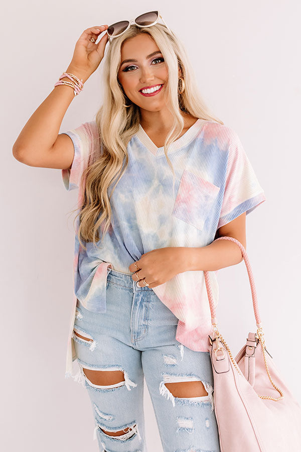Weekend Hang Out Tie Dye Shift Tee