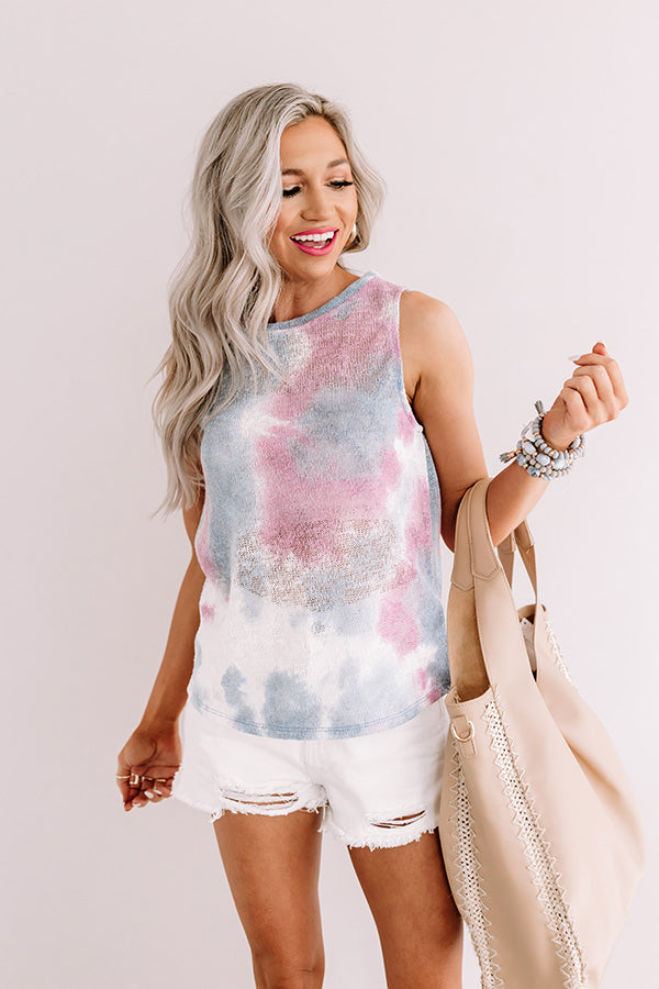 Watercolor Mesa Tie Dye Knit Tank