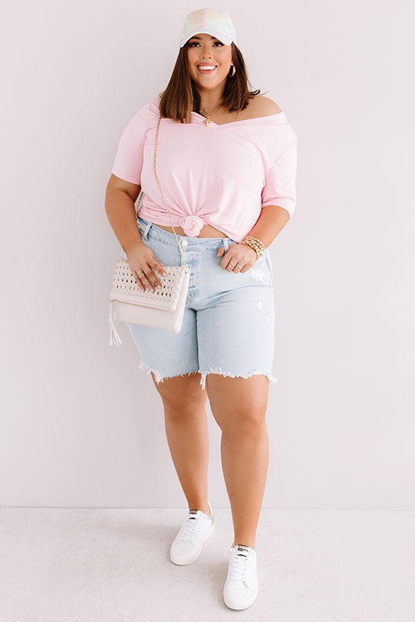 Coastal Chic Shift Tee In Pink