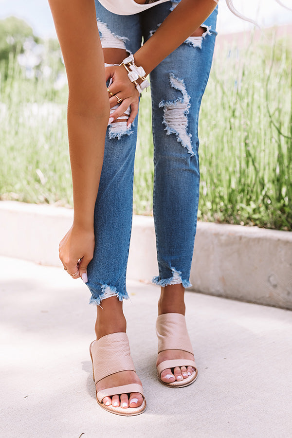 The Etta High Waist Distressed Ankle Skinny In Medium Wash