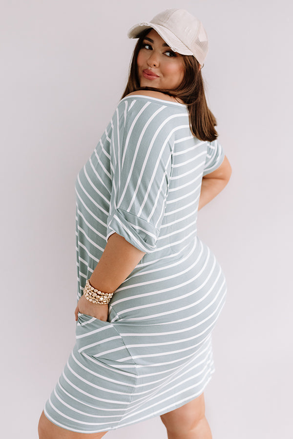 Kisses And Stripes Dress In Pear
