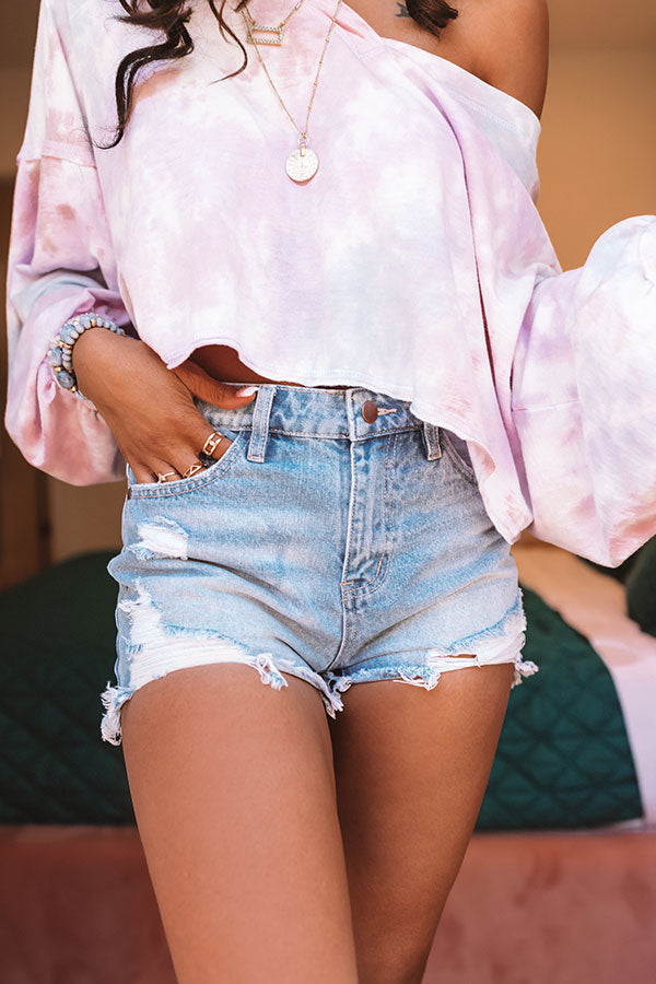 The Calloway High Waist Distressed Shorts