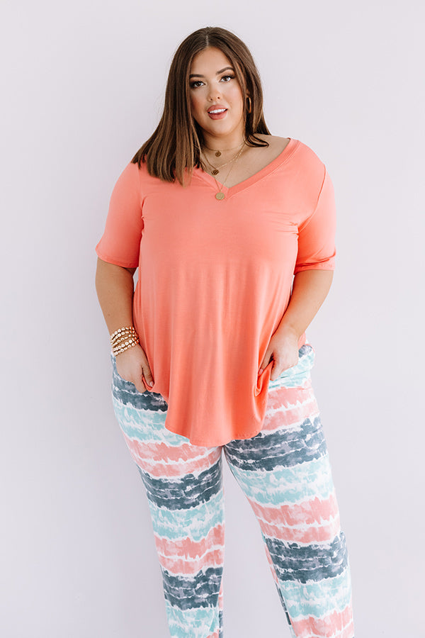 Coastal Chic Shift Tee In Coral