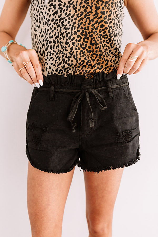 The Violet Midrise Shorts In Black