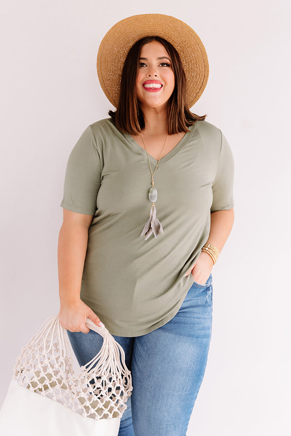 Coastal Chic Shift Tunic In Sage