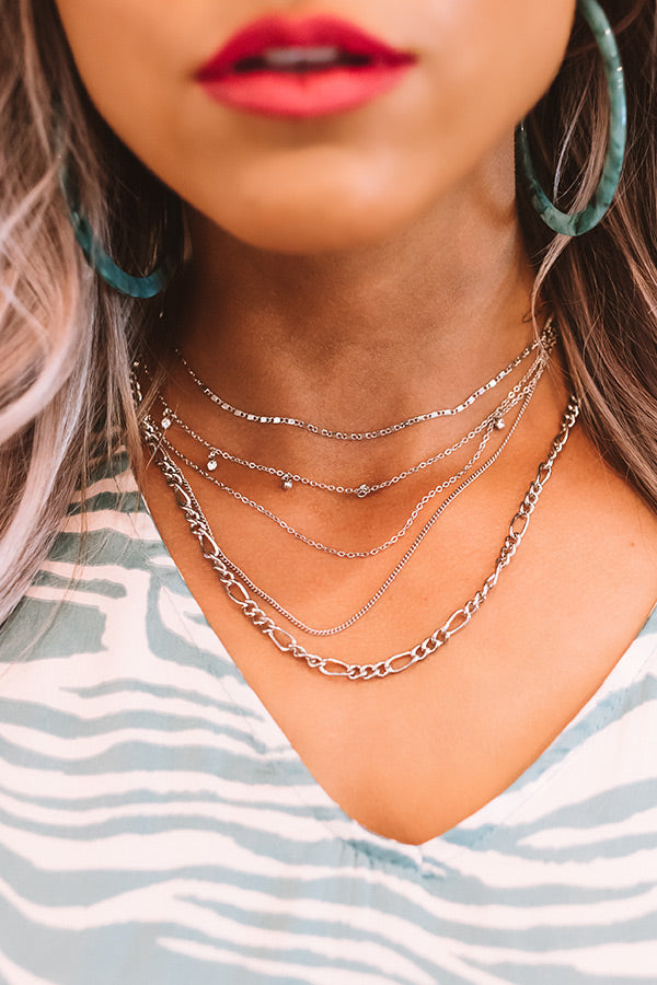 Rooftop Views Layered Necklace In Silver