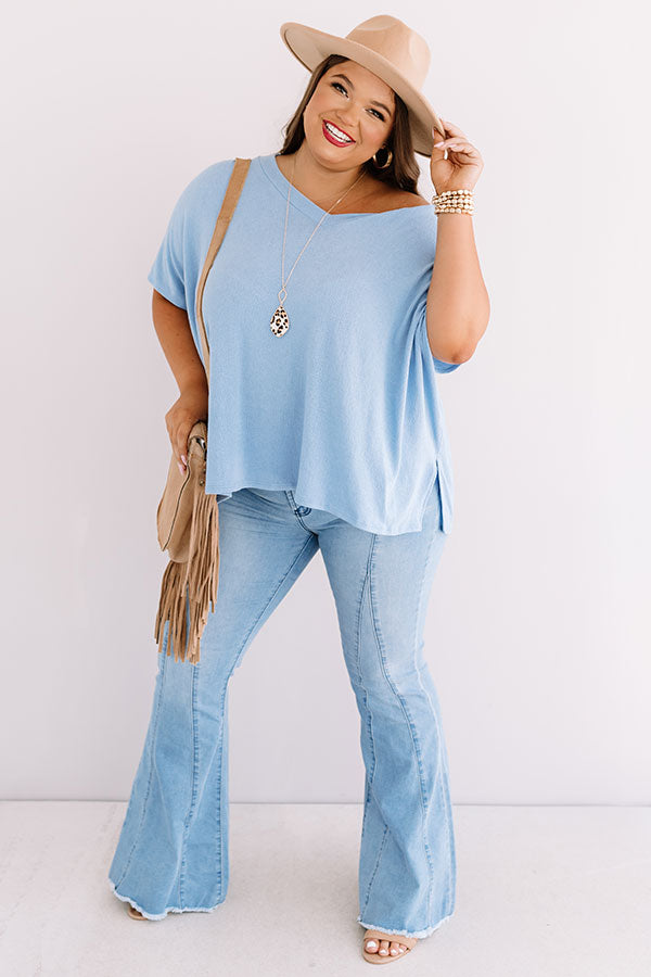 Sing Along Shift Top In Sky Blue
