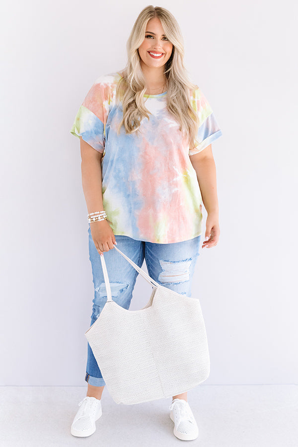 Ocean Sunset Tie Dye Tee In Yellow