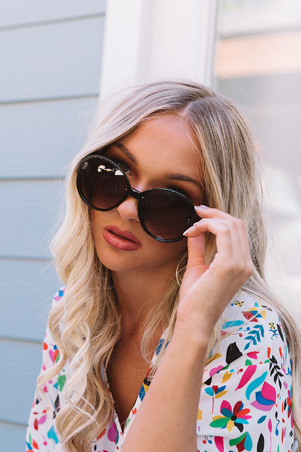Rockefeller Views Sunnies In Black With Ombre Lens