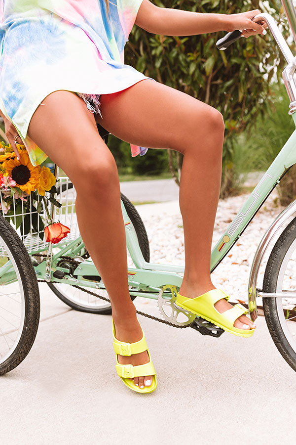 The Sunny Sandal in Neon Yellow
