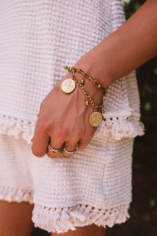 All Saints Coin Bracelet