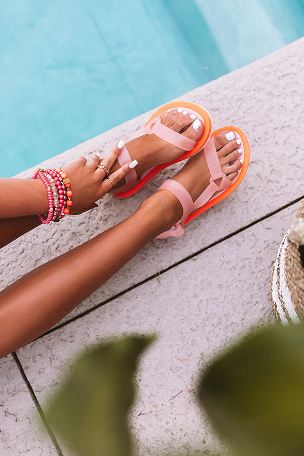 Poolside Retreat Sandal in Orange