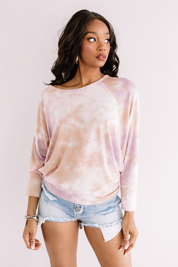 Tupelo Honey Tie Dye Shift Top In Lavender