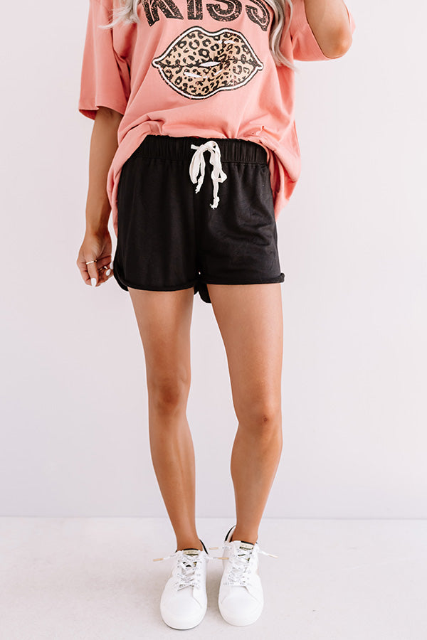 Comfy Crush Shorts In Black