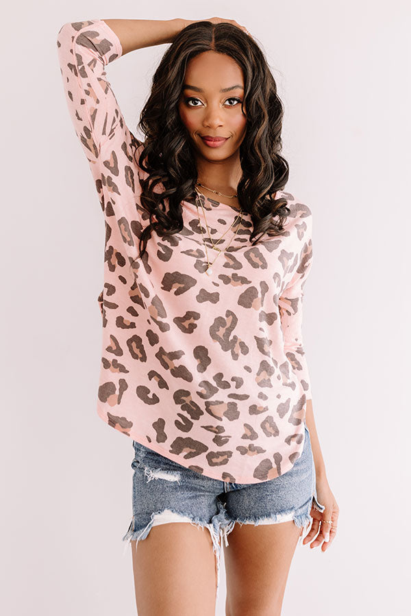 Spotted In Soho Leopard Top In Peach