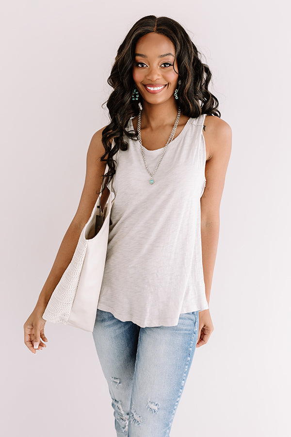 Carefree Crush Top In Light Grey