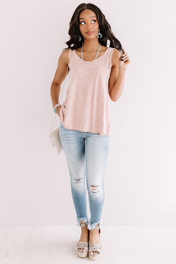 Carefree In Cozumel Top In Blush