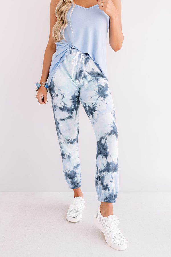 Chill Out Tie Dye Joggers In Navy