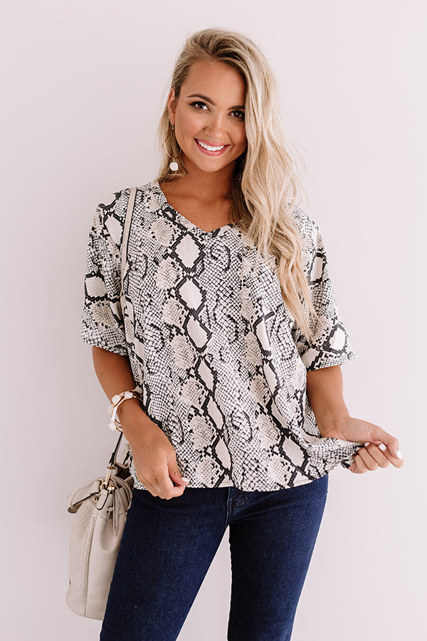 Dancing In Milan Snake Print Shift Top