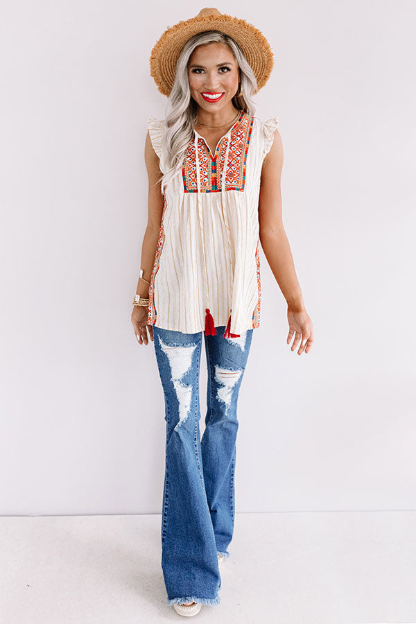 Summer Spotlight Embroidered Top