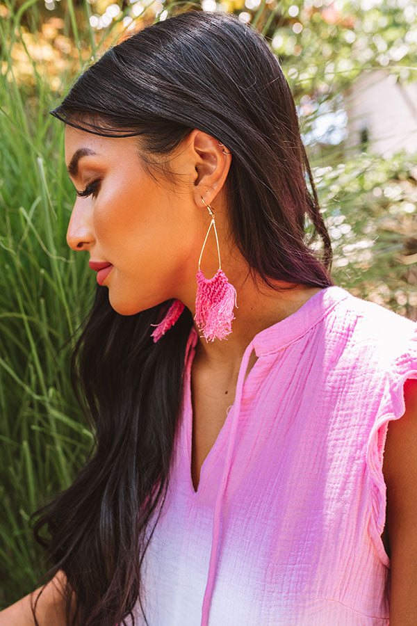 Prim And Pretty Earrings In Pink